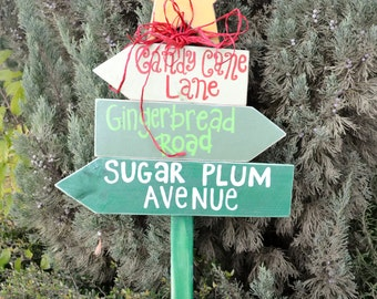 Custom Outdoor Christmas Directional Lawn Sign