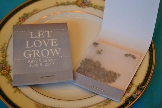 Forget Me Not Wedding Invitations: 25 Custom Forget Me Not Flower Seed Wedding Favor Matchbooks
