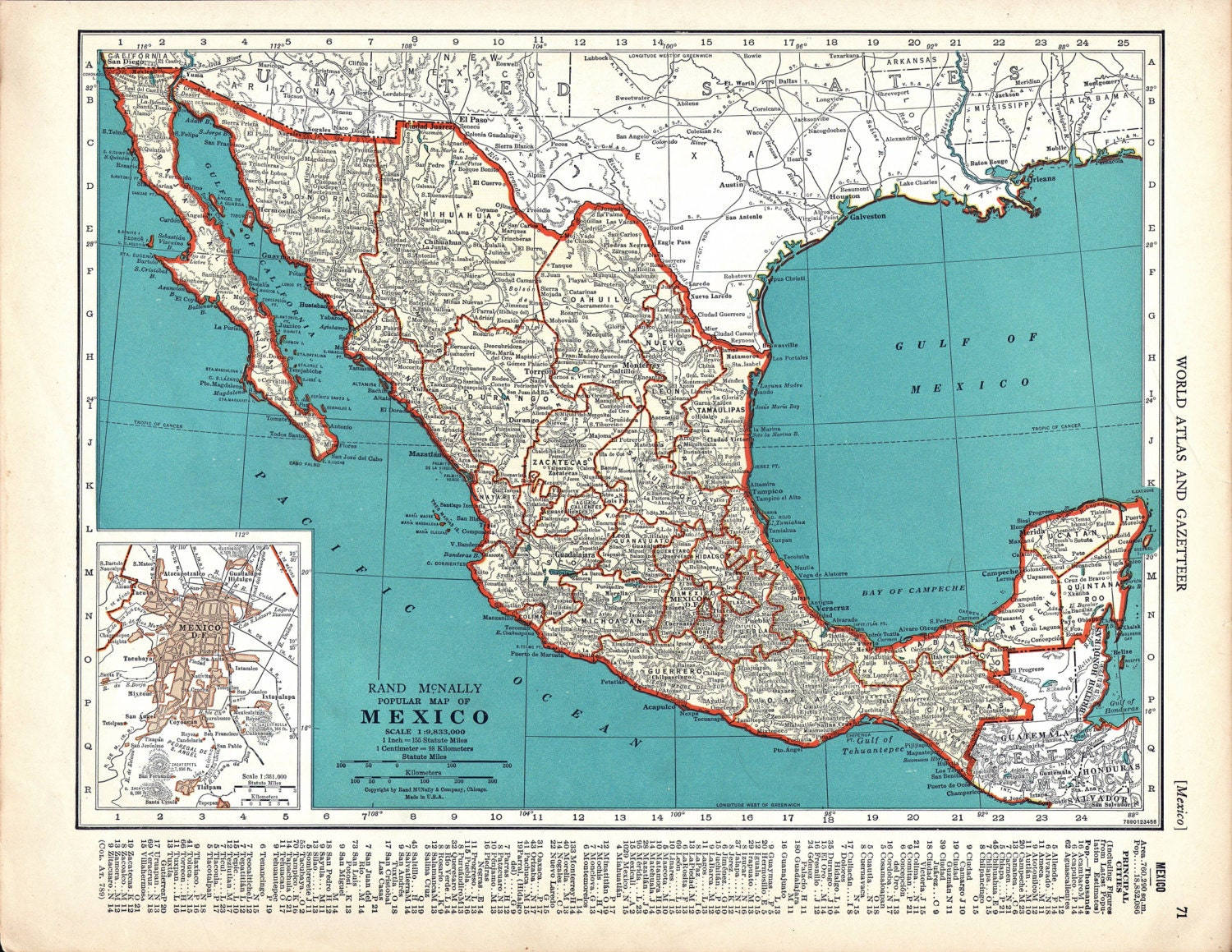 It's just a photo of Smart Printable Map of Mexico