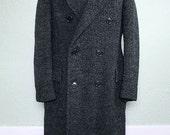 1930s Faux Astrakhan Overcoat