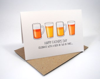 Father's Day Card - Dad Beers - HFD015 - Happy Father's Day Card