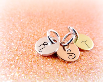 ADD ON Monogram Charm - Choice of Copper, Brass, or Aluminum Silver