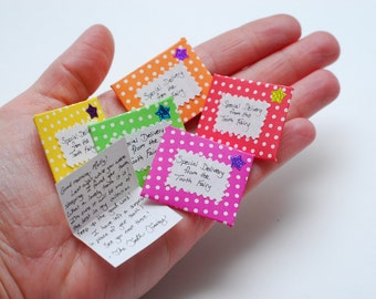 Letter from The Tooth Fairy- tiny and personalized, choice of polka-dot colors