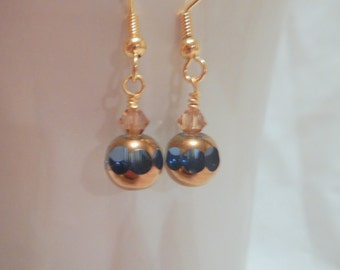 Sapphire Blue Gold Earrings
