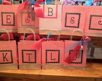 Just add Water.  Bachelorette Bash. Set of Custom Gift Bags for All Occasions/ Bridesmaids and Bachelorette. Destination Bachelorette Party