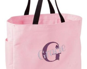 Personalized Tote, Bridesmaid Bag, Set of Eleven, Gift, Monogrammed Tote, Canvas Tote Bag, Beach Bag, Wedding, Personalized Gifts