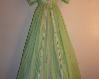 1950s long cotton summer party dress.