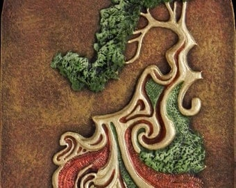 Doodle with Tree - Cast Paper - Eclectic - Flowing