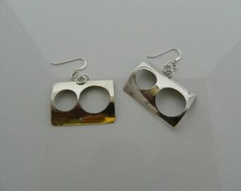 Large Sterling Silver Earrings