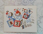 Vintage Christmas Greeting Cards Thermo Glo Gold Embossed Made In USA Set of Four