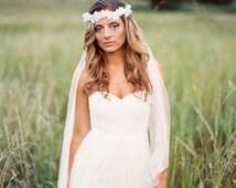 Bohemian Bridal Headpiece. Boho Headband . Whimsical Flower Headband.