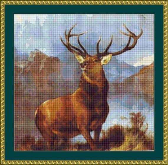 Monarch Of The Glen Cross Stitch Pattern /Digital PDF Files /Instant downloadable
