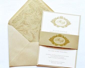 Victorian Invitations, Gold Wedding Invitations, Gold U0026 Victorian Wedding  Invites, Gold Wedding Invites