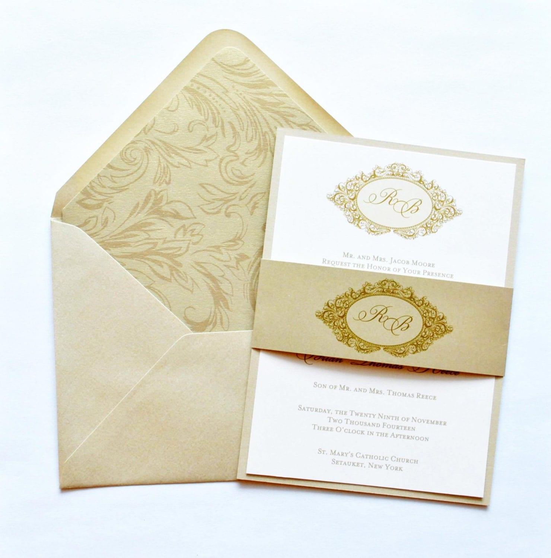 Gold Wedding Invitations: Victorian Invitations Gold Wedding Invitations By