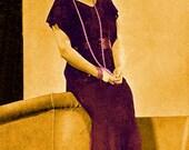 Vintage 1935 Classic Lace Evening Gown PLUS Size 501 PDF Digital Crochet Pattern