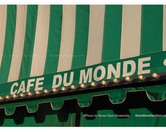Cafe du Monde Photo - French Quarter - Beignet  and Cafe Au Lait -  Kitchen Decor - theRDBcollection - Renee Dent Blankenship
