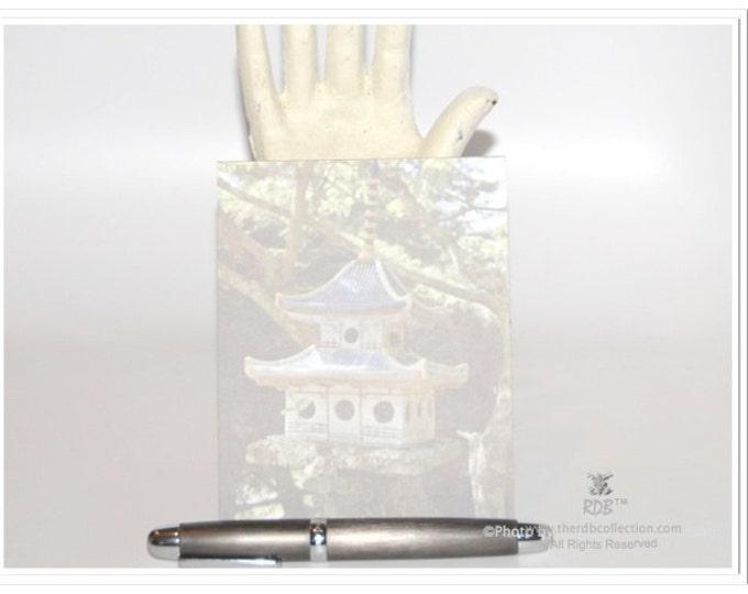 Asian Birdhouse Notepad