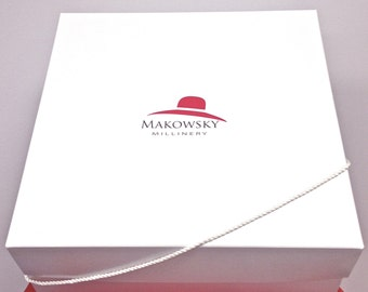 Makowsky Millinery Hat Box, Storage for Hats, Hat Boxes for Hats