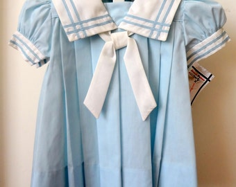 Vintage Baby Blue Sailor Dress- New, never worn