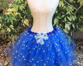 Frozen Anna Tutu, Frozen Costume, Elsa Frozen Tutu, Blue Tutu, Snowflake Tutu, Frozen Party Favors, Disney Frozen Favors, Blue Tutu