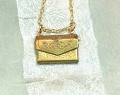 Upcycled Vintage Envelope Necklace for Billet Doux & Secrets Handmade Jewelry