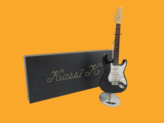 Miniature Electric Guitar- Personalized Musician Gift (CGE18B)