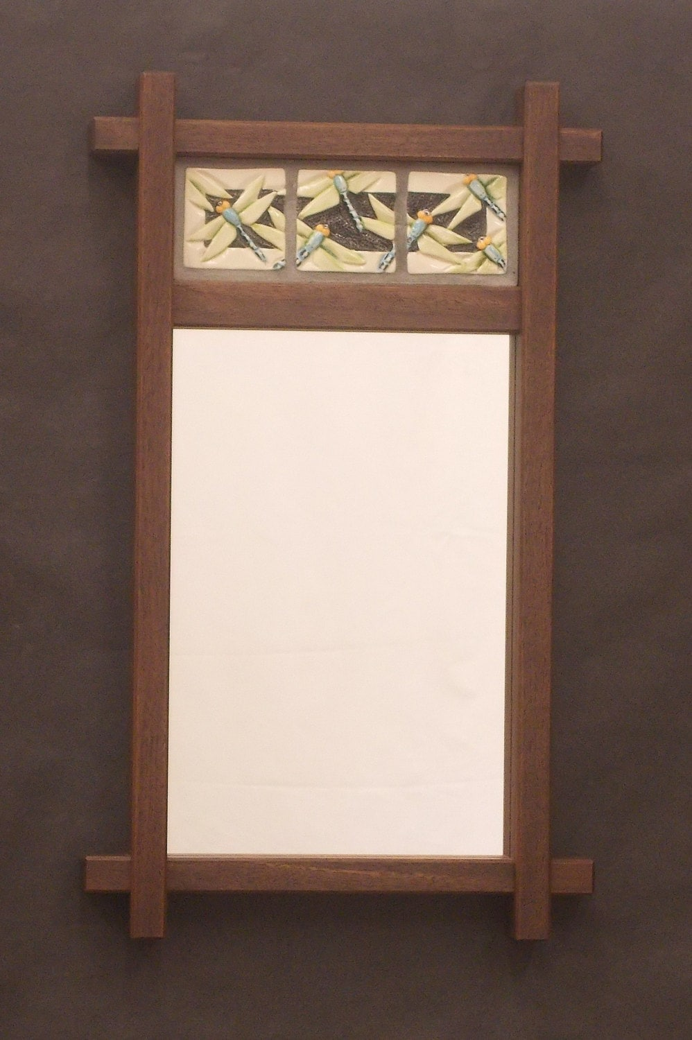 Decorative mirror arts and crafts mission style by for Craftsman vs mission style