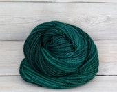 Apollo - Hand Dyed Bulky Superwash Merino Wool Bulky Chunky Yarn - Colorway: Emerald
