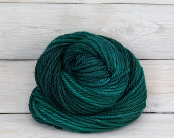 Apollo - Hand Dyed Bulky Superwash Merino Wool Bulky Chunky Yarn - Colorway: Emerald