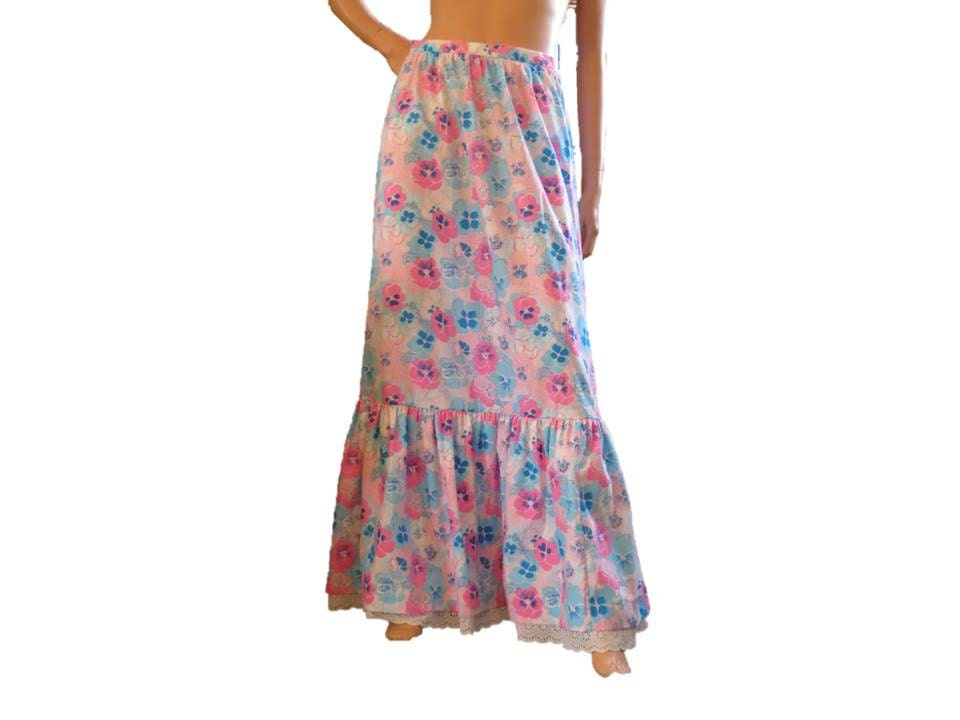 vintage the lilly lilly pulitzer maxi skirt ruffle bottom