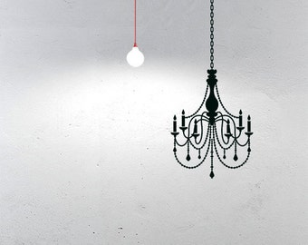 Chandelier Wall Sticker - Adhesive Vinyl Wall Sticker