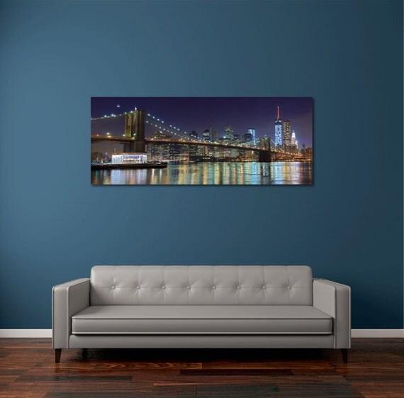 Items Similar To NYC Panorama Photo Metal Print Brooklyn