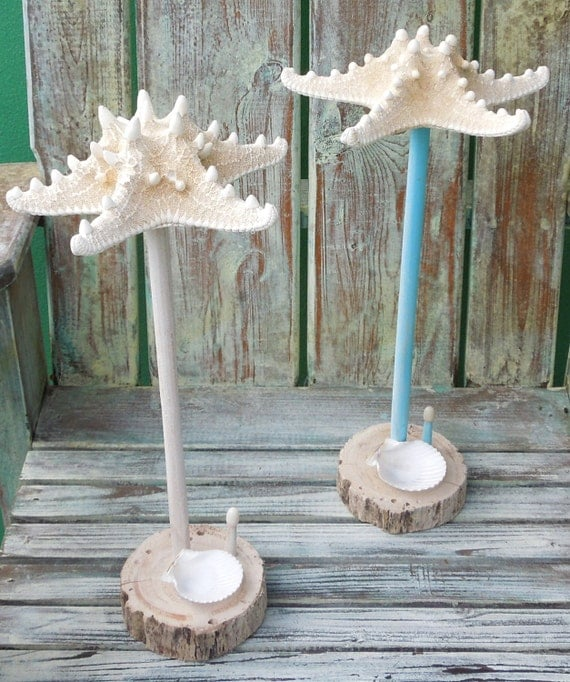 Nautical Jewelry Holder Starfish Jewelry Organizer Coastal