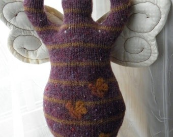Bumble Bee - Wool Goddess Doll with WINGS Medium