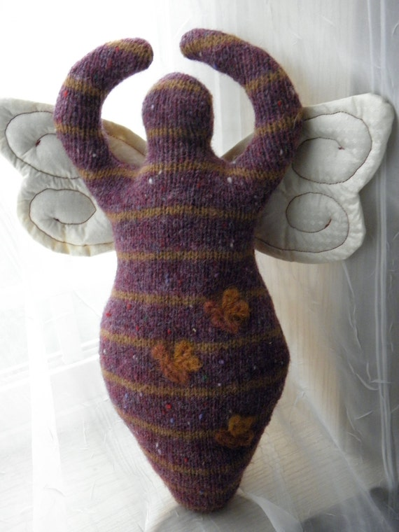 Bumble Bee Wool Goddess Doll with WINGS