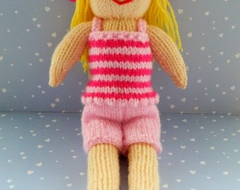 Doll Knitting Pattern/ Knitted Doll/ Toy Knitting Pattern/ Knitting Pattern/ PDF/ Instant Download/Petunia - A Summer Doll