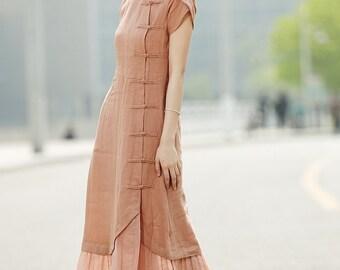 Maxi Linen Dress C348