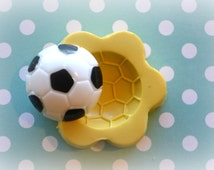 DM0119 Football Soccer ball Sports Silicone rubber Flexible Food Safe Mold Mould- decoden, cupcake topper, resin, clay, soap, wax, candy