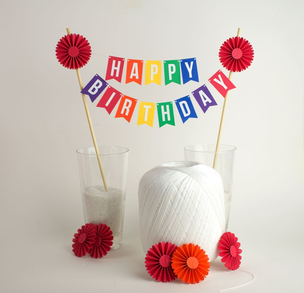 mini cake bunting etsy on cake happy birthday banner