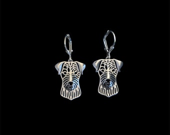 Parson Russell Terrier earrings - sterling silver.