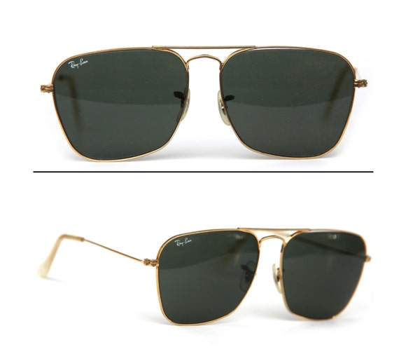 ray ban pilot aviator sunglasses  60\u0027s Vintage b\u0026l RAY BAN USA 24k Gold Filled Caravan Pilot