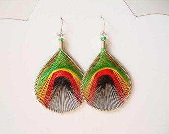 Peruvian Thread earrings Rastafarian earring Assorted Size