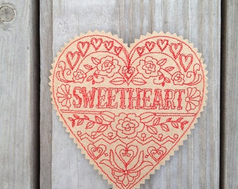 """Valentine's Day Card Old-Fashioned """"Sweetheart"""""""