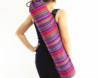 Handmade Yoga Mat Bag Yoga Bag Sports Bags Tote Yoga Sling bag Pilates Bag Pilates Mat Bag Woven Yoga Bag Women bag Woven Cotton bag (FF3)