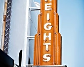 The Heights Marquee Photography - decorative photography print - wall art - home decor -  Houston, Texas photo - multiple sizes available