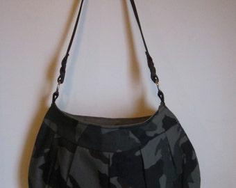 Handmade Cotton Camo Buttercup Bag