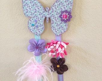 Custom made Wooden Bow Holders for Girls