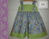 Tinkerbell Basic Knot dress sizes 12m to 5t