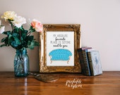Quote Print, Printable wall art decor poster, Inspirational love wedding digital typography illustration - sitting next to you custom colors