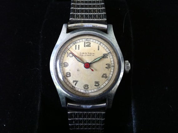 croton aquamatic 17 jewel automatic fine swiss watch croton aquamatic 17 jewel automatic fine swiss watch fantastic men s military style wwii era